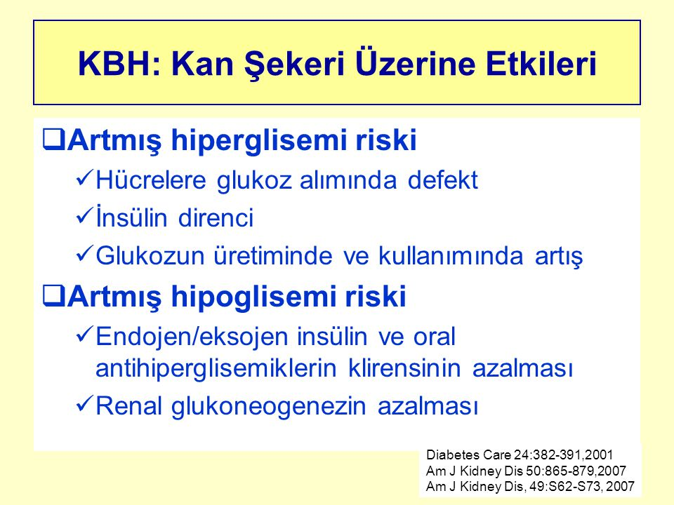KBH: Kan Şekeri Üzerine Etkileri