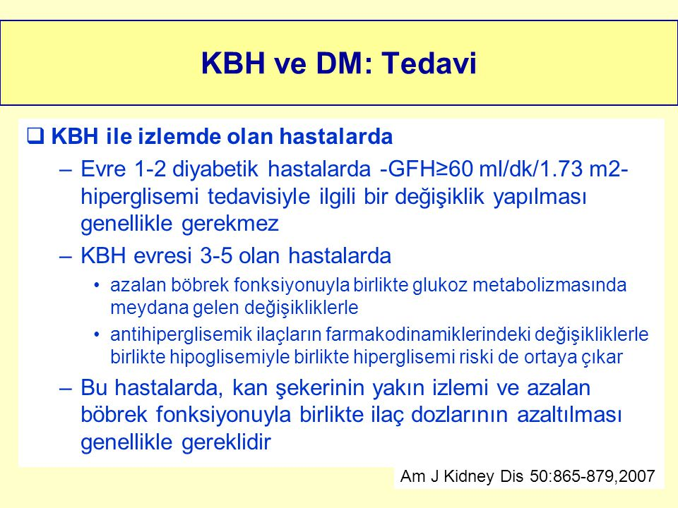 KBH ve DM: Tedavi KBH ile izlemde olan hastalarda