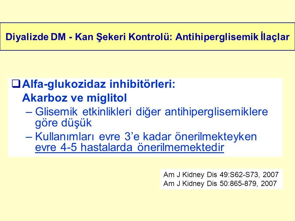 Diyalizde DM - Kan Şekeri Kontrolü: Antihiperglisemik İlaçlar