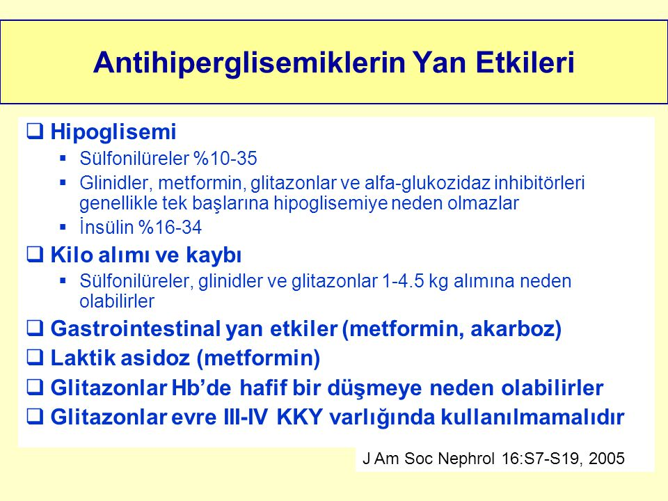 Antihiperglisemiklerin Yan Etkileri