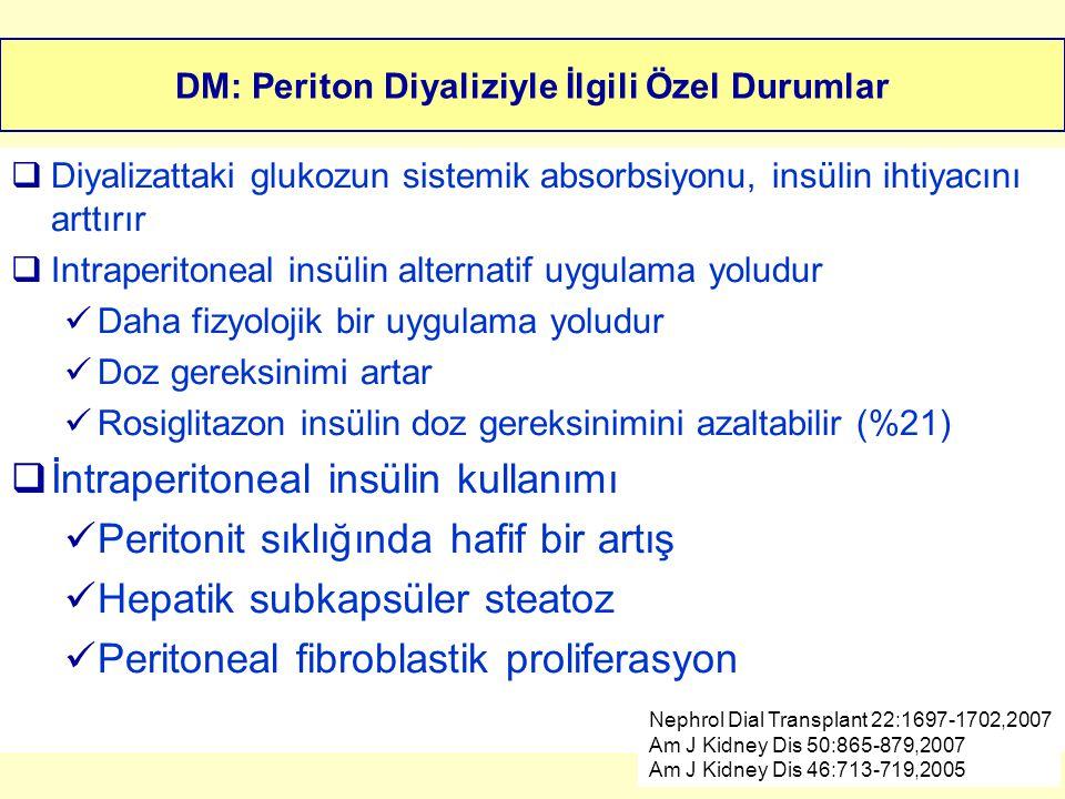 DM: Periton Diyaliziyle İlgili Özel Durumlar