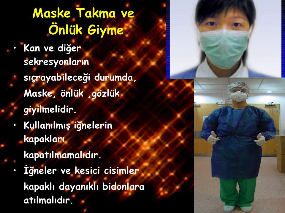 Maske Takma ve Önlük Giyme