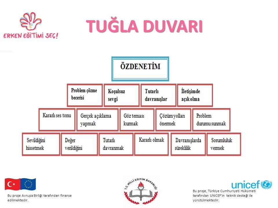 TUĞLA DUVARI Bu proje, Türkiye Cumhuriyeti Hükümeti tarafından UNICEF'in teknik desteği ile yürütülmektedir.