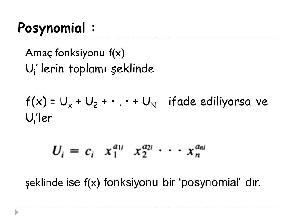 Posynomial :