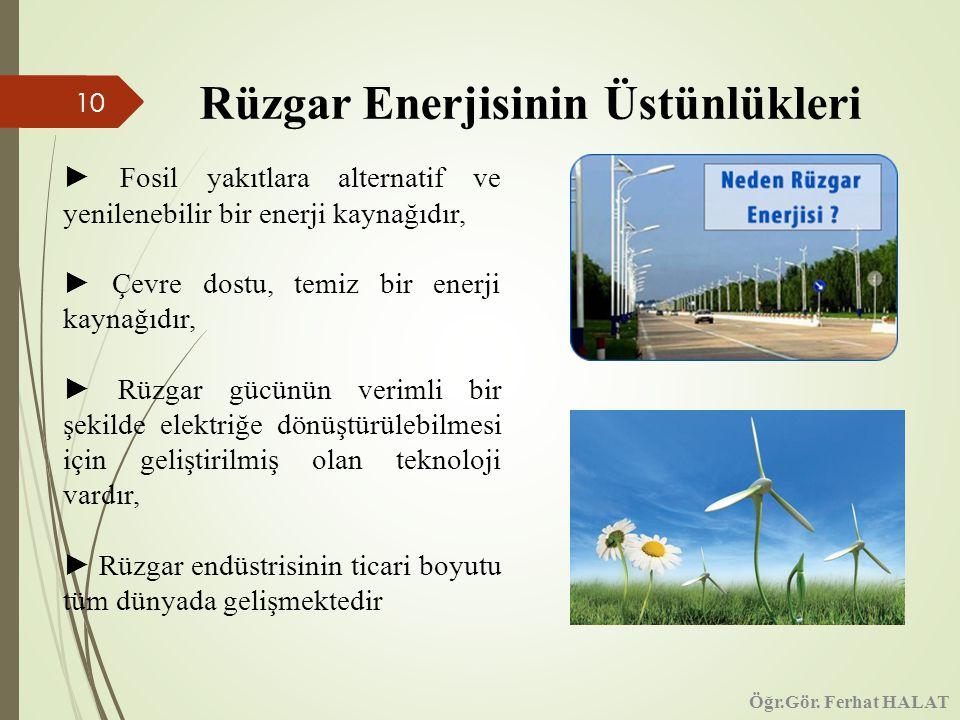 Rüzgar Enerjisinin Üstünlükleri