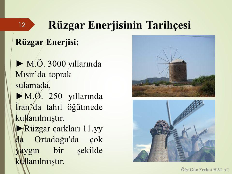 Rüzgar Enerjisinin Tarihçesi