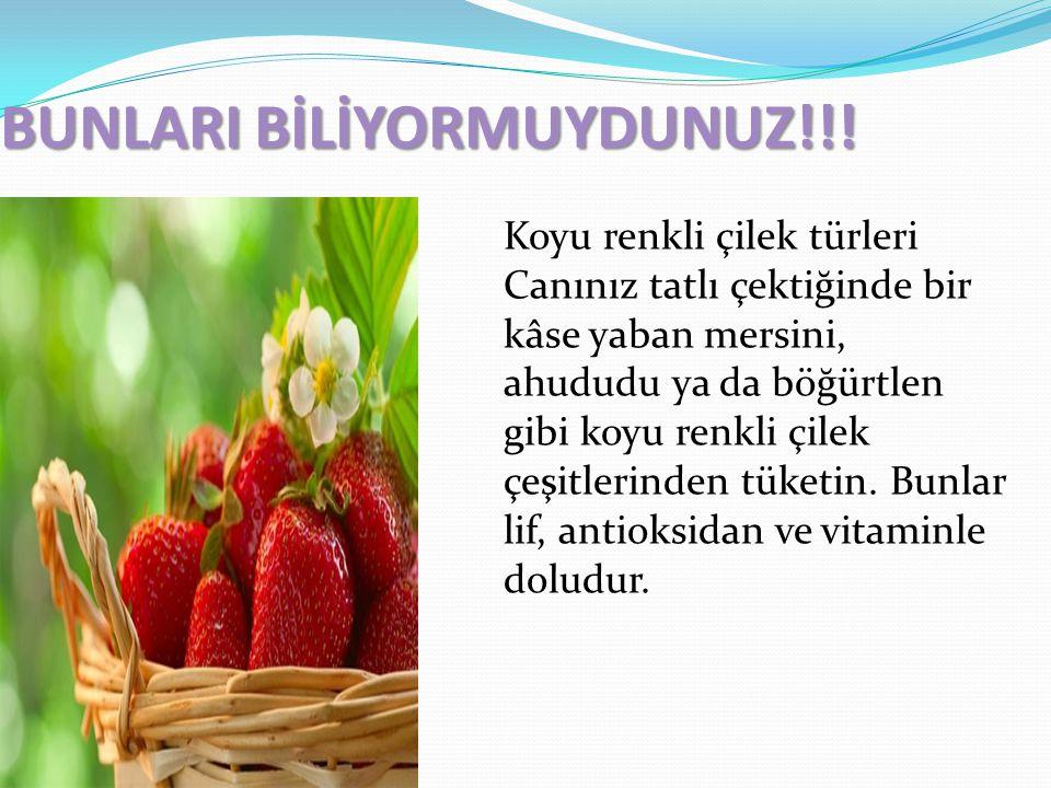 BUNLARI BİLİYORMUYDUNUZ!!!