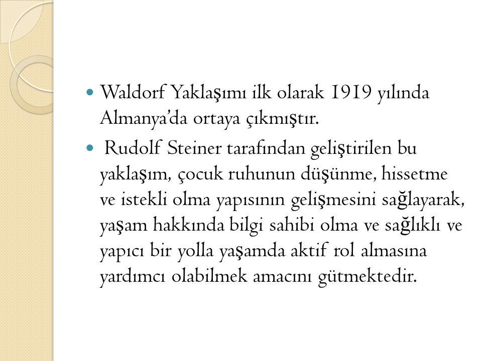 Waldorf Yaklaşımı ilk olarak 1919 yılında Almanya'da ortaya çıkmıştır.