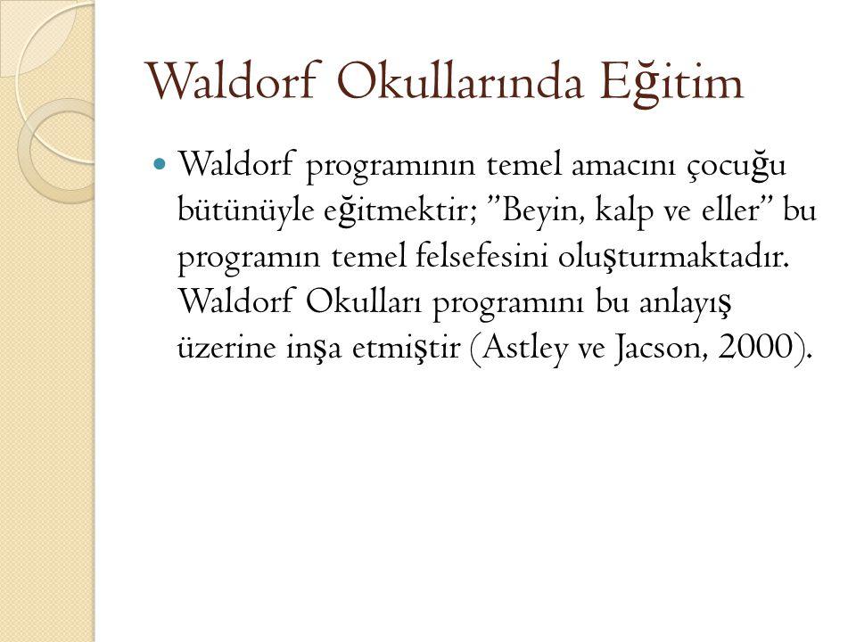 Waldorf Okullarında Eğitim