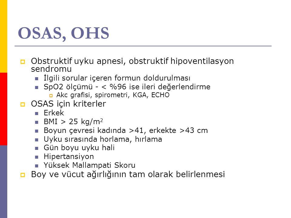 OSAS, OHS Obstruktif uyku apnesi, obstruktif hipoventilasyon sendromu