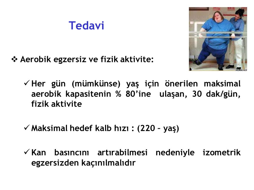 Tedavi Aerobik egzersiz ve fizik aktivite:
