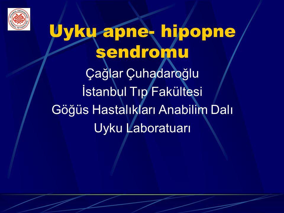 Uyku apne- hipopne sendromu