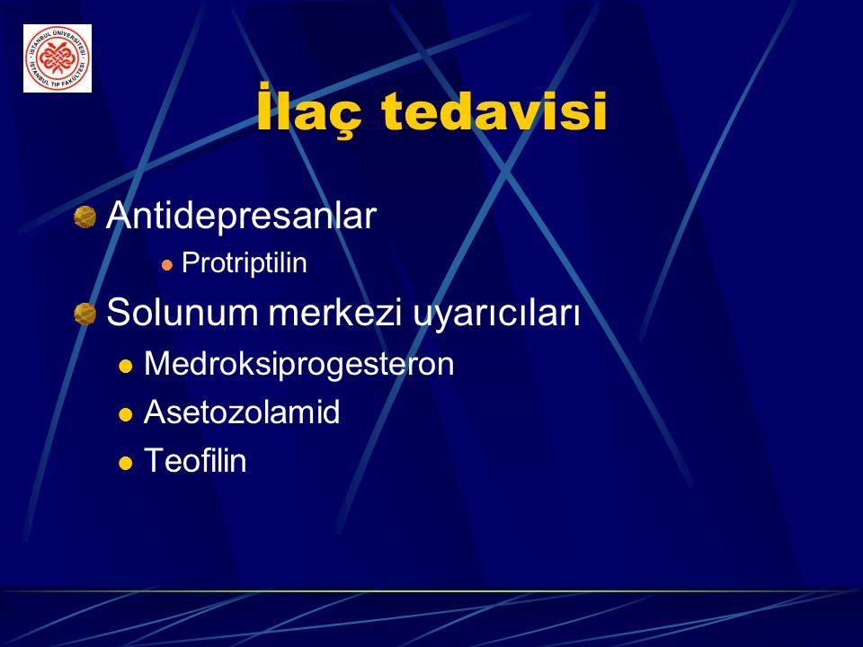 İlaç tedavisi Antidepresanlar Solunum merkezi uyarıcıları