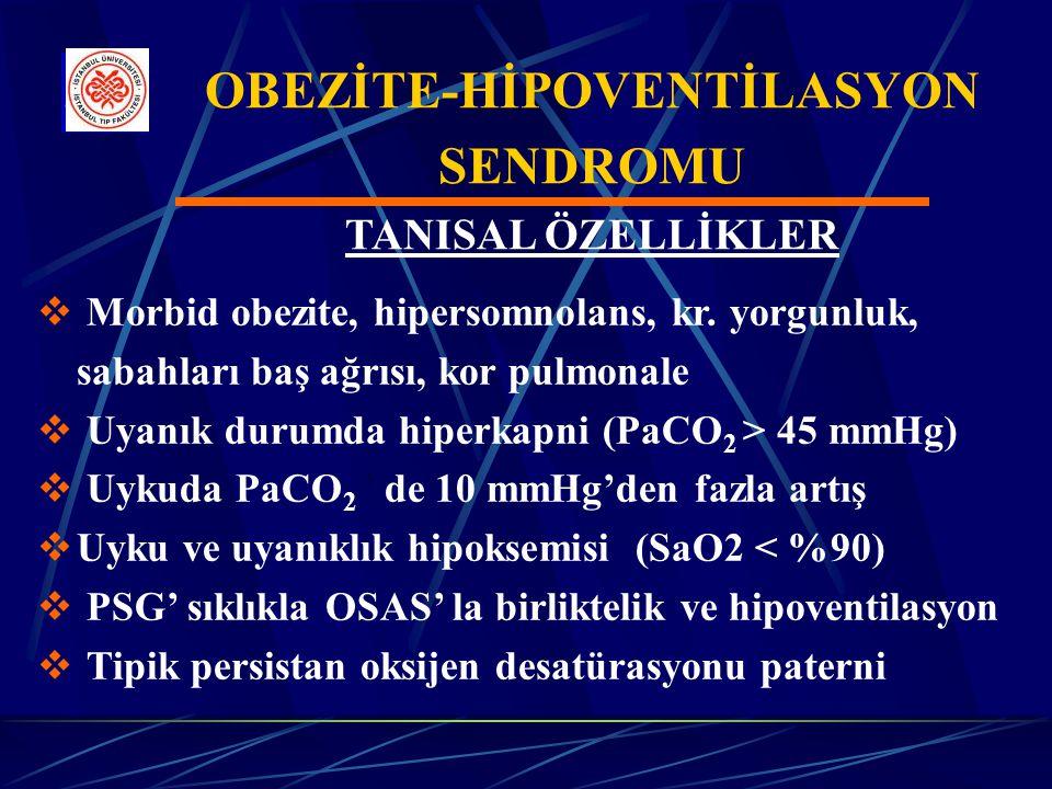 OBEZİTE-HİPOVENTİLASYON SENDROMU TANISAL ÖZELLİKLER