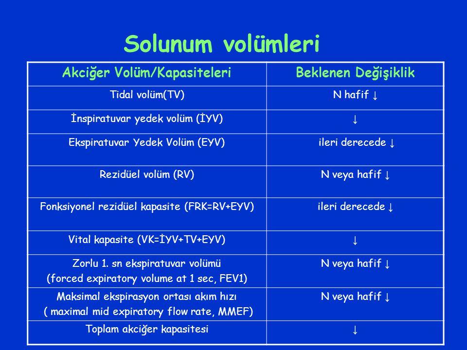 Akciğer Volüm/Kapasiteleri