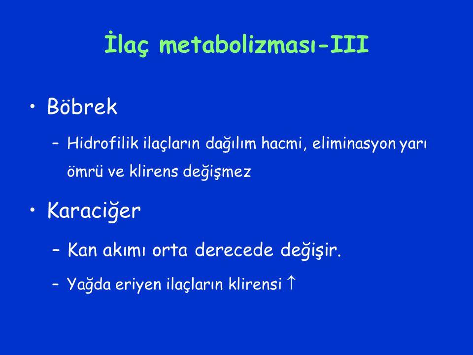 İlaç metabolizması-III