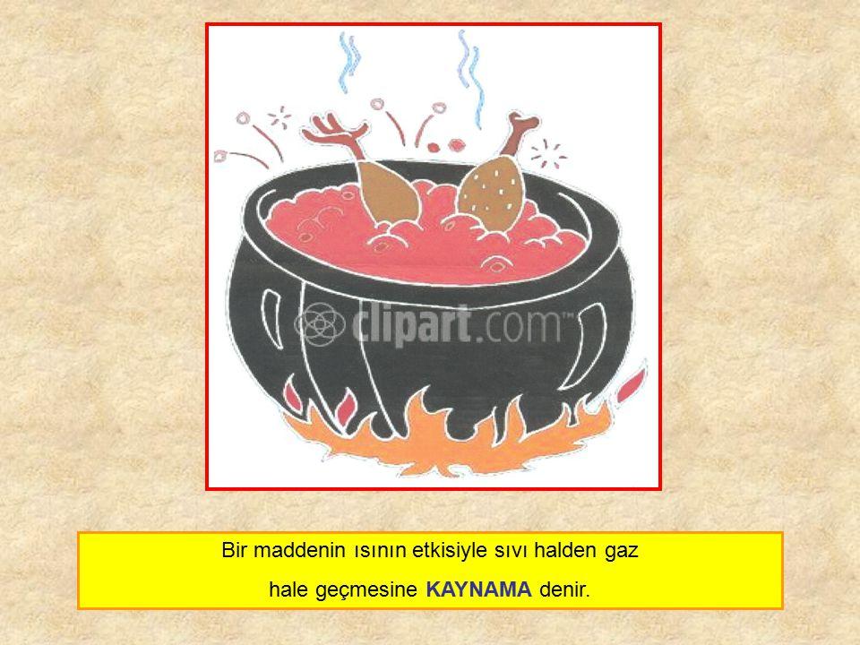 Bir maddenin ısının etkisiyle sıvı halden gaz