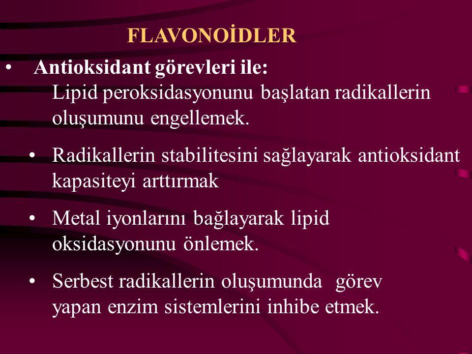 FLAVONOİDLER