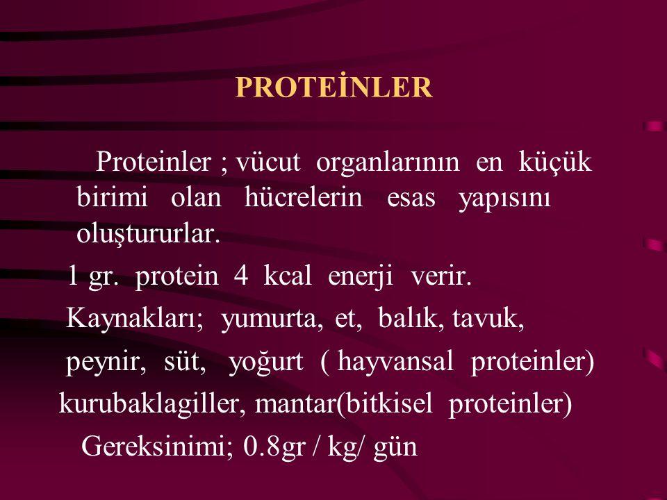 PROTEİNLER Proteinler ; vücut organlarının en küçük birimi olan hücrelerin esas yapısını oluştururlar.