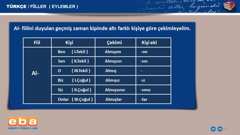 TÜRKÇE / FİİLLER ( EYLEMLER )