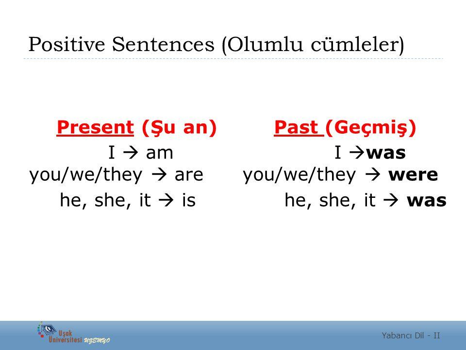 Positive Sentences (Olumlu cümleler)