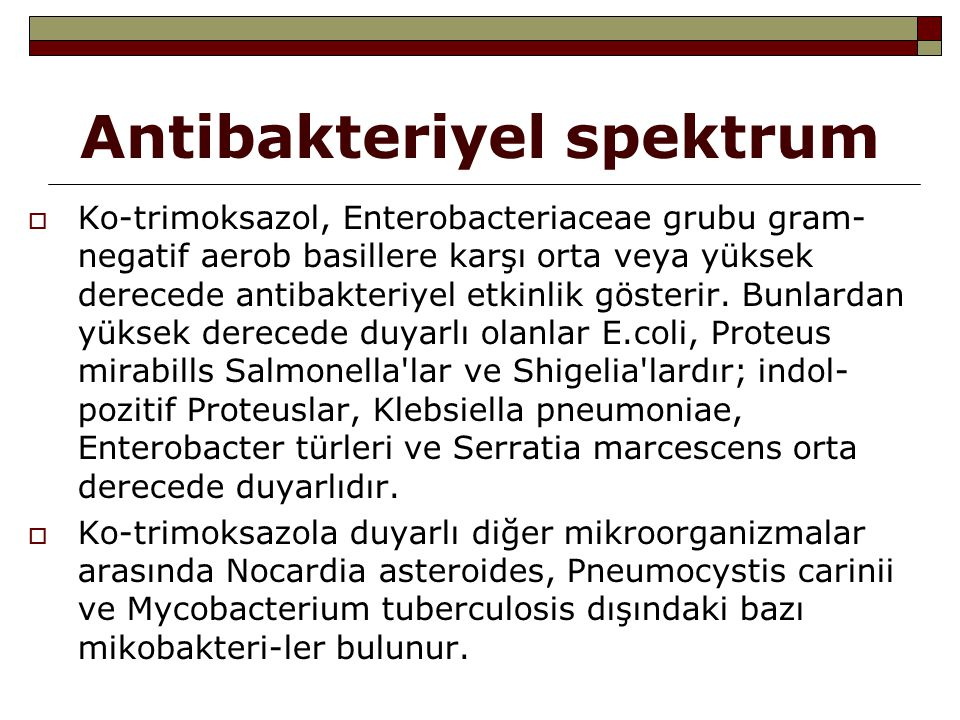 Antibakteriyel spektrum