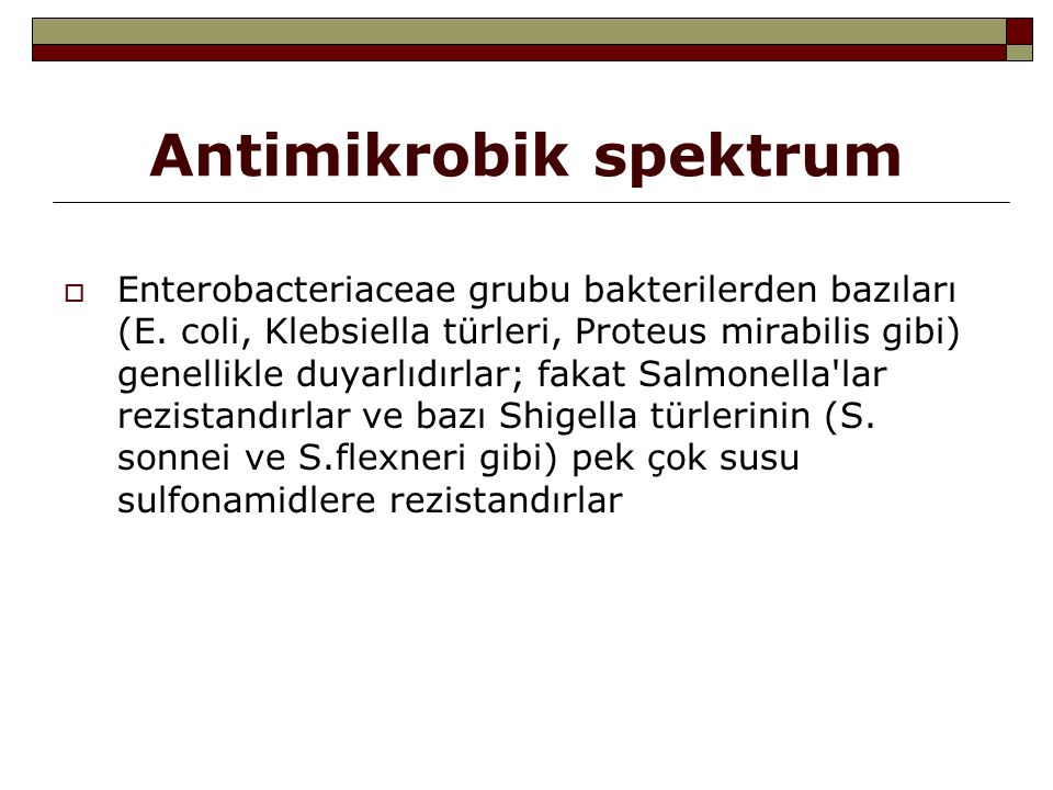 Antimikrobik spektrum