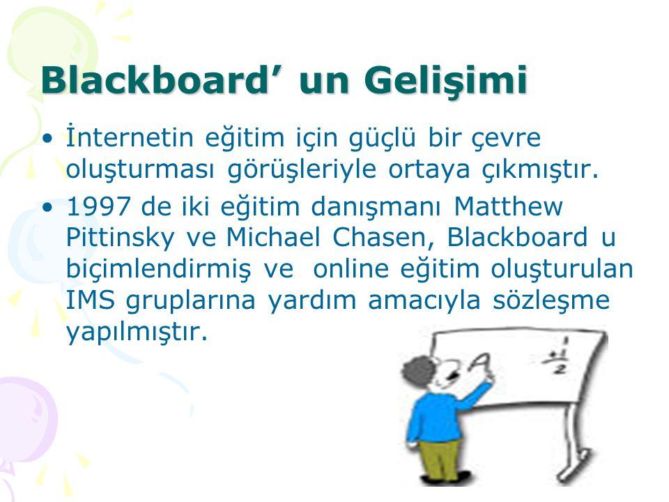 Blackboard' un Gelişimi