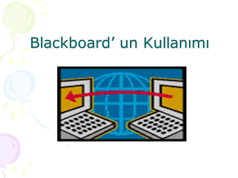 Blackboard' un Kullanımı