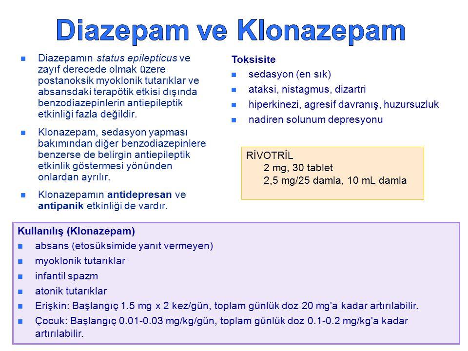 Diazepam ve Klonazepam