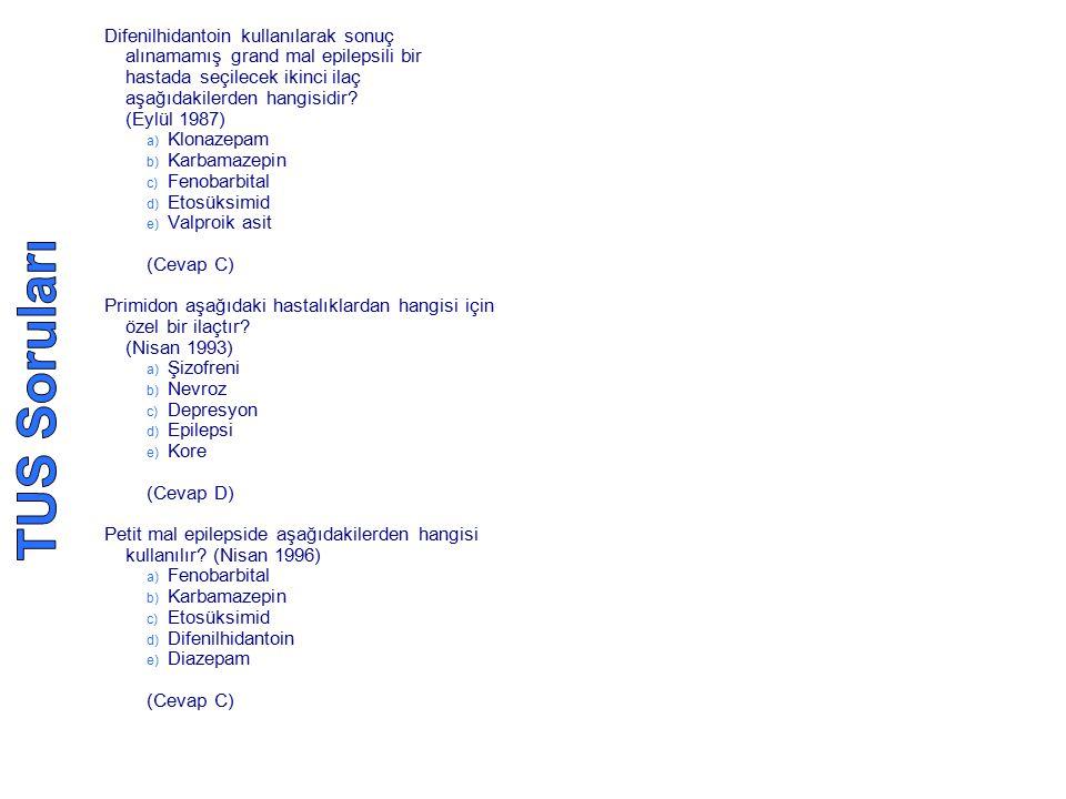 Difenilhidantoin kullanılarak sonuç alınamamış grand mal epilepsili bir hastada seçilecek ikinci ilaç aşağıdakilerden hangisidir (Eylül 1987)
