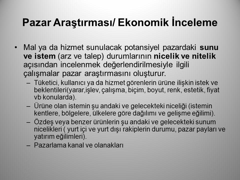 Pazar Araştırması/ Ekonomik İnceleme