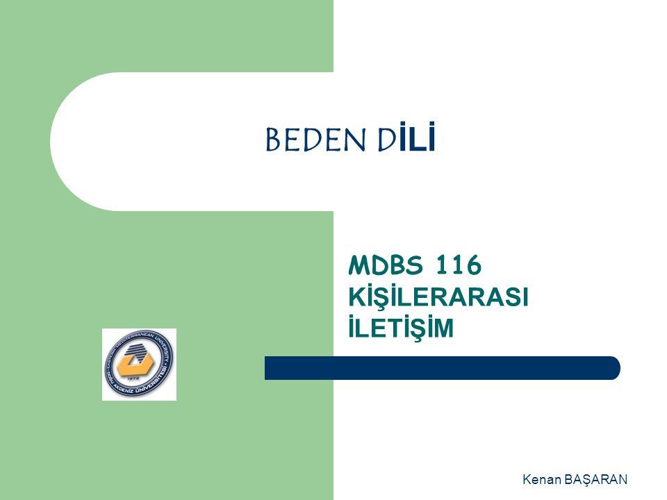 MDBS 116 KİŞİLERARASI İLETİŞİM