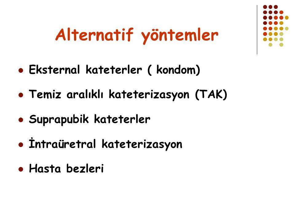 Alternatif yöntemler Eksternal kateterler ( kondom)