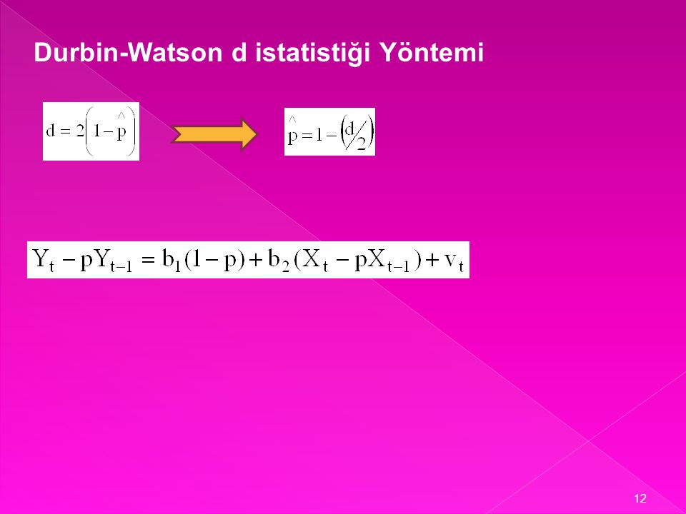 Durbin-Watson d istatistiği Yöntemi
