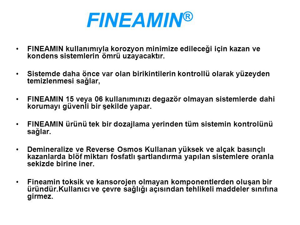FINEAMIN® FINEAMIN kullanımıyla korozyon minimize edileceği için kazan ve kondens sistemlerin ömrü uzayacaktır.