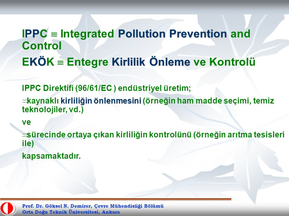 IPPC  Integrated Pollution Prevention and Control