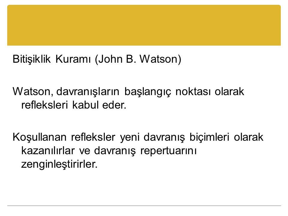 Bitişiklik Kuramı (John B. Watson)