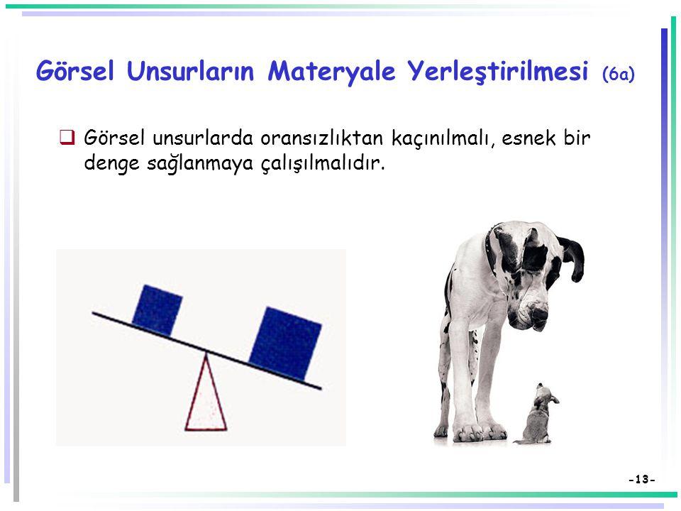 Görsel Unsurların Materyale Yerleştirilmesi (6a)