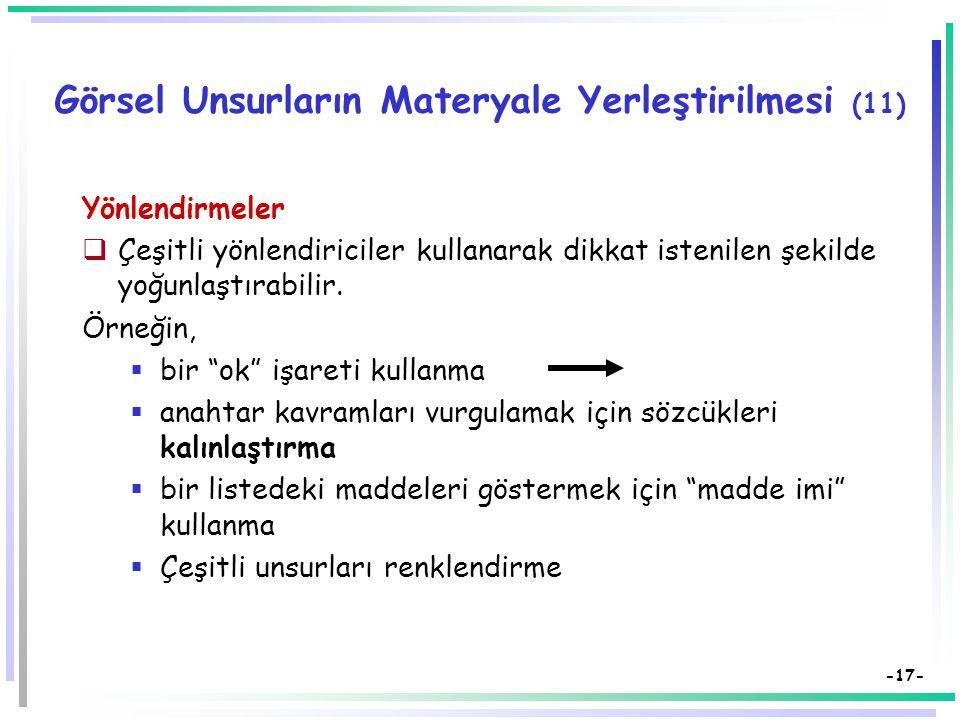 Görsel Unsurların Materyale Yerleştirilmesi (11)