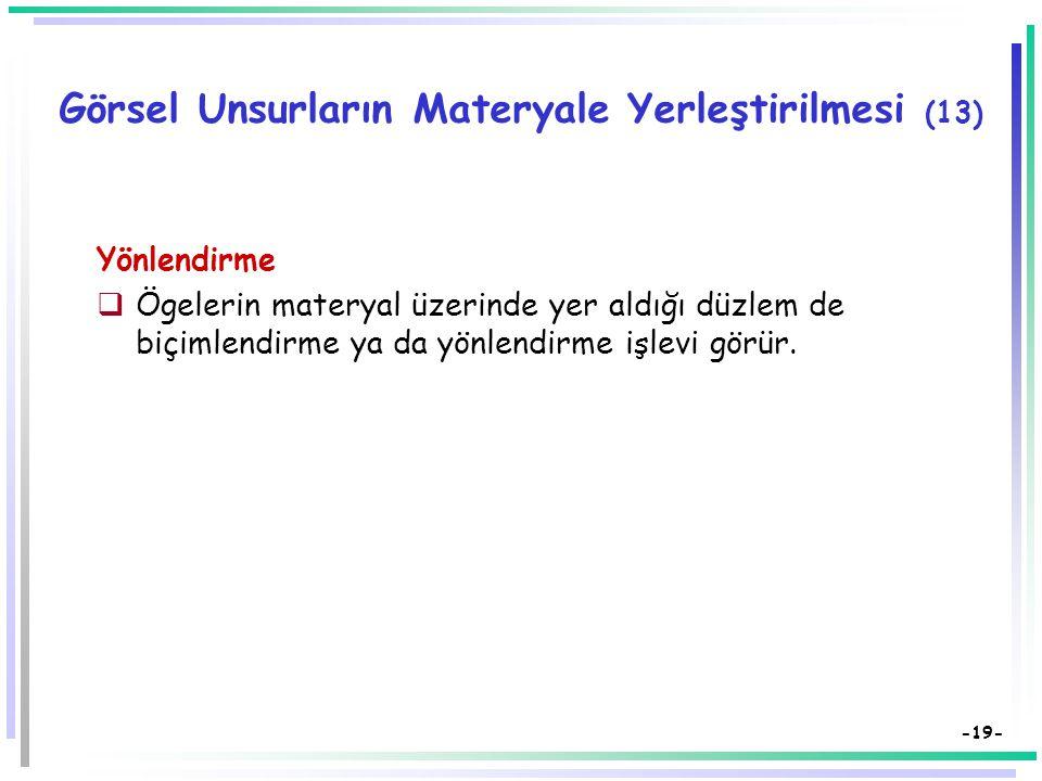 Görsel Unsurların Materyale Yerleştirilmesi (13)