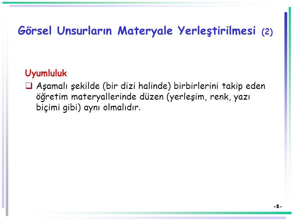 Görsel Unsurların Materyale Yerleştirilmesi (2)