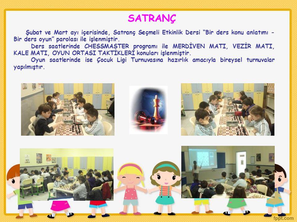 SATRANÇ Şubat ve Mart ayı içerisinde, Satranç Seçmeli Etkinlik Dersi Bir ders konu anlatımı - Bir ders oyun parolası ile işlenmiştir.