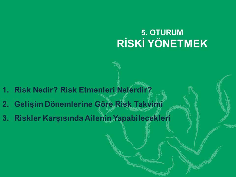RİSKİ YÖNETMEK 5. OTURUM Risk Nedir Risk Etmenleri Nelerdir