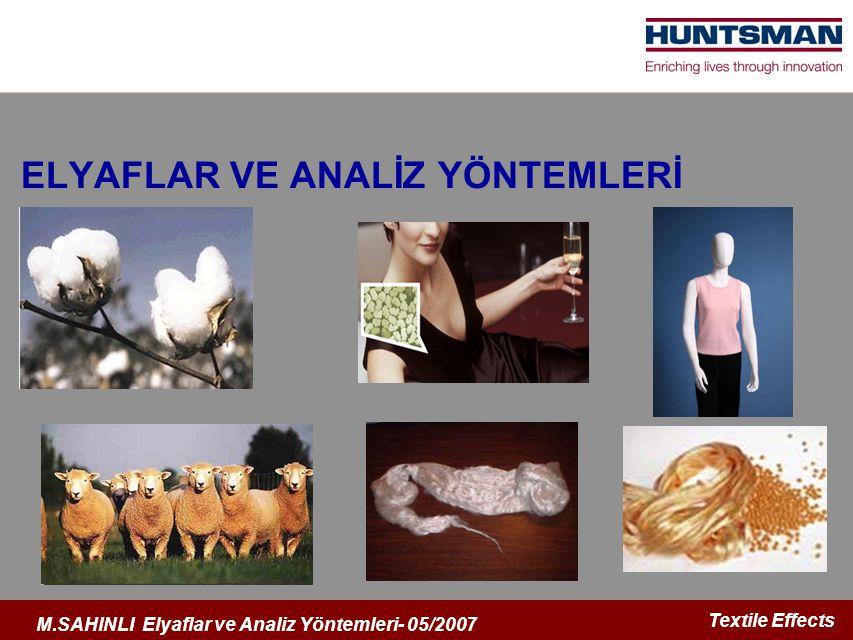 ELYAFLAR VE ANALİZ YÖNTEMLERİ