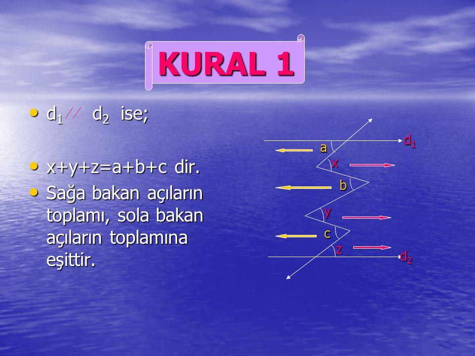 KURAL 1 d1 d2 ise; x+y+z=a+b+c dir.