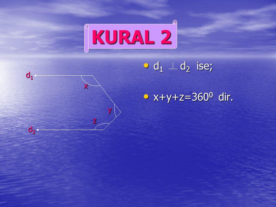 KURAL 2 d1 d2 ise; x+y+z=3600 dir. d1 x y z d2