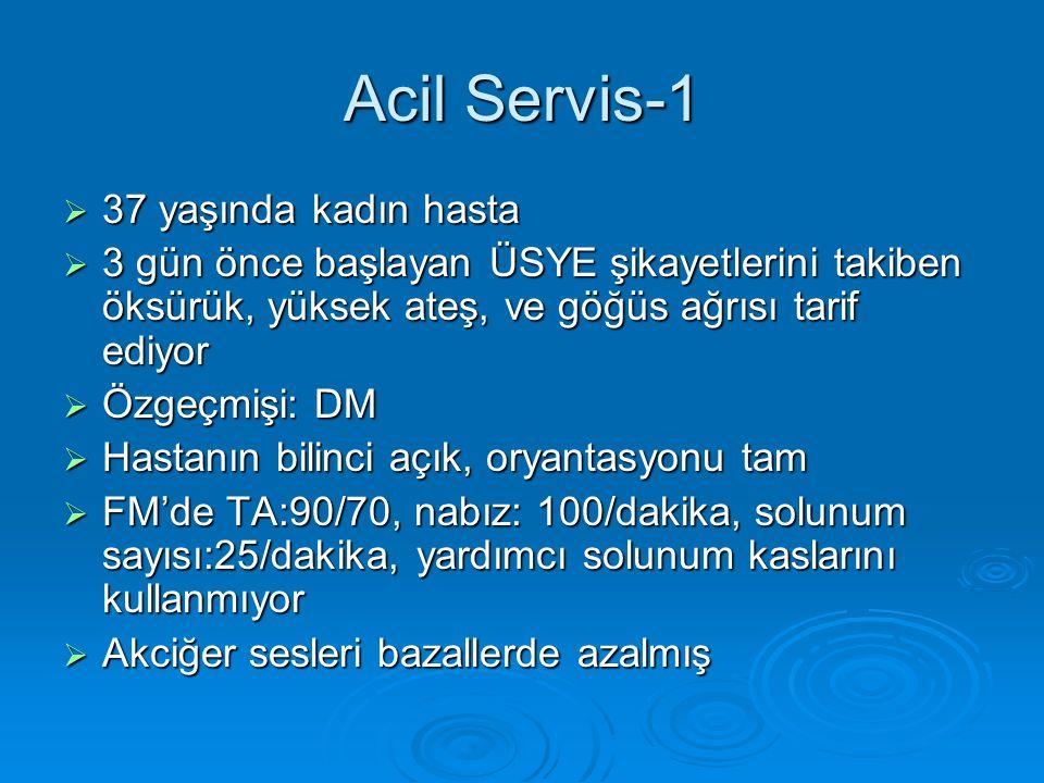 Acil Servis-1 37 yaşında kadın hasta
