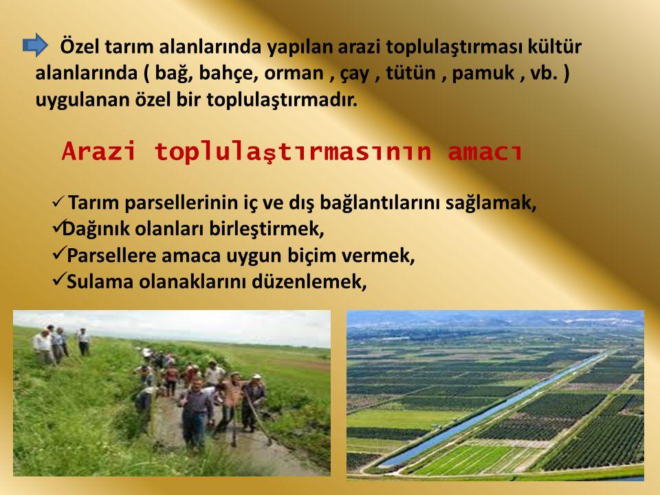 Arazi toplulaştırmasının amacı