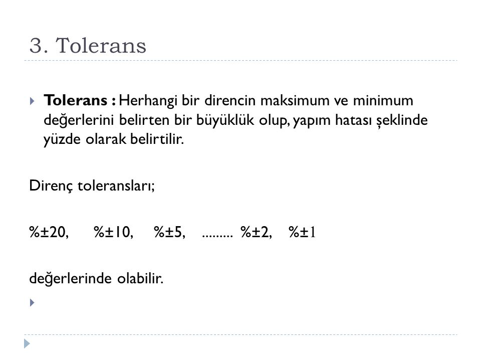 3. Tolerans